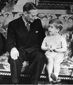 King George VI with Prince Charles on his third birthday