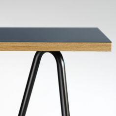 linoleum / marmoleum table top with exposed apple ply edge