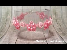 Fatamorgana Bracelet Beading Tutorial by HoneyBeads1 (with superduo and rounduo beads)