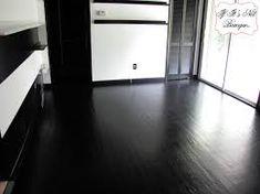 black flooring The Trials and Tribulations of a Painted Floor Black Laminate Flooring, Painted Hardwood Floors, Black Wood Floors, Wooden Flooring, Flooring Ideas, Black Floor Paint, Black Floorboards, Vinyl Flooring, Room Paint