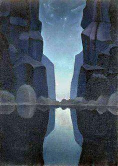 Борис Смирнов-Русецкий.   Свет ущелья.    Boris Smirnov-Rusetsky.   Light of gorge.