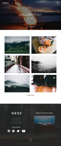 Ness - Minimalist Photo Magazine WordPress Theme #wordpress #wpmagazine Live Preview and Download: http://themeforest.net/item/ness-minimalist-photo-magazine-wordpress-theme/8242626?ref=ksioks