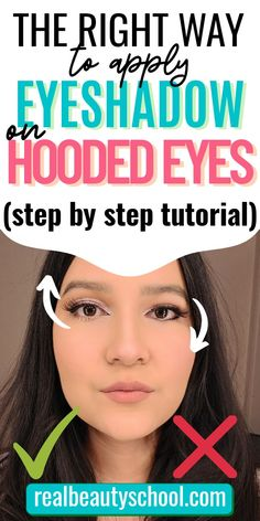 Cut Crease Hooded Eyes, Makeup For Hooded Eyelids, Eyeshadow For Hooded Eyes, How To Do Eyeshadow, Cut Crease Eyeshadow, Cut Crease Makeup, Eyeshadow Makeup, Eyeshadows, Simple Eyeshadow Tutorial