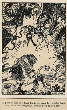 Anton Pieck Helden der mensheid 1941  ill Beowulf | by janwillemsen