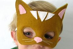 Kitty Cat Mask Animal Costume for Kids by rileyconstruction