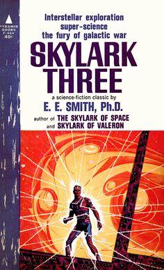 Skylark Three, by Edward E. 'Doc' Smith  Pyramid F-924, 1963  Cover art by EMSH (Ed Emshwiller)