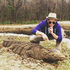 @jacques_music having his #share of #fun at Umbhaba #lodge in #hazyview  #isthatwhatithinkitis #crocodile #umbhaba #nature #wildlife #reptiles #welovereptiles #lowveld #bushbreak