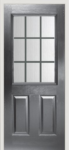 Our Snowdon Georgian #composite #door is a popular choice for a rear door. Shown here in slate grey.