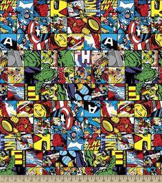 Marvel Avengers Comic Patch Cotton Fabric