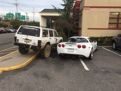 This Jeep owner who out-assholed this Corvette owner.