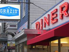 Grazin' Diner, the first animal rights approved restaurant in the US (Hudson).
