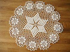 Ecru crochet doily Handmade table decoration home by MariAnnieArt
