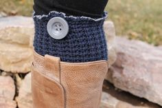 Navy Blue Cable Knit Flared With Layered Flower Upcycled Leg Warmers Boot Toppers Full Length Womens Leg Warmers on Etsy, $35.00