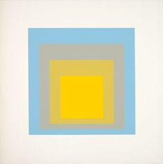 Josef Albers, Homage to the Square, screenprint, 1962 - Google Search
