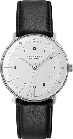 @junghansgermany  Max Bill Automatic #best-seller-yes #bezel-fixed #bracelet-strap-leather #brand-junghans #case-depth-10mm #case-material-steel #case-width-38mm #delivery-timescale-7-10-days #dial-colour-silver #gender-mens #luxury #movement-automatic #official-stockist-for-junghans-watches #packaging-junghans-watch-packaging #style-dress #subcat-max-bill #supplier-model-no-027-3500-01 #warranty-junghans-official-2-year-guarantee #water-resistant-waterproof