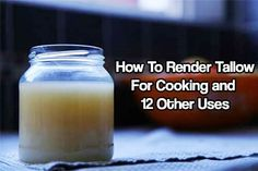 To Render Tallow for Cooking and 12 Other Uses How To Render Tallow for Cooking and 12 Other Uses. When you render the fat of animals this produces a harder fat called tallow.When in Rome When in Rome may refer to: Survival Food, Survival Skills, Emergency Preparedness, Beef Kabob Recipes, Canning Recipes, Beef Tallow, Beef Kabobs, Dehydrated Food, Healthy Oils
