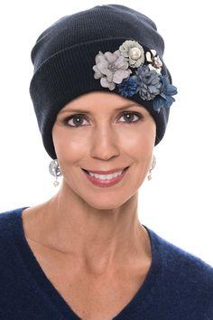 20047f08186 Gemma 3D Flower Cuff Beanie Hat. Knit BeanieBeanie HatsBeaniesFleece HatsWearing  A HatLove HatTurbanHats For WomenSneakers Fashion