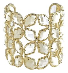 Paley Cuff Bracelet in Lilly from Kendra Scott Jewelry's wedding collection.
