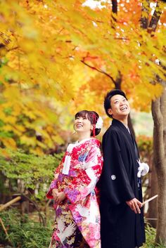 【秋ロケ】紅葉の中での和装ロケーション♡