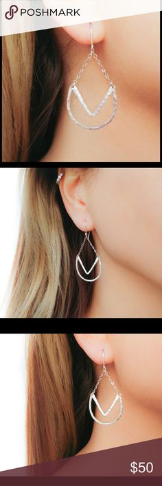 Boho Earrings - 925 Sterling Silver A stunning set of solid 925 sterling silver bohemian dangle-drop earrings complete with fish hook ear wires. Each set is handmade after your order is placed. We fabricate all jewelry in the order we received each purchase. nejd Jewelry Earrings