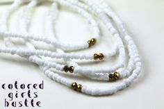 Hey, I found this really awesome Etsy listing at https://www.etsy.com/listing/181778654/traditional-waist-beads-white-and-gold