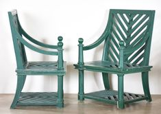 Exceptional pair of garden chairs by Emilio Terry