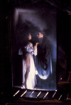 Phantom of the Opera - The Mirror scene. I believe it's Sarah Brightman and Michael Crawford in this picture.