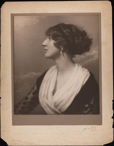 Miss Rutherfurd (likely Barbara Cairncross Rutherfurd) photographed by Ernest Walter Histed (c. 1912). The daughter of Anne Harriman Sands Rutherfurd Vanderbilt (Mrs. W. K. Vanderbilt). Consuelo's much younger step-sister, she was born the year Consuelo married the Duke of Marlborough.