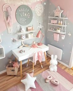 Bright, modern interior for children - Babyzimmer Madchen - Country Recipes Baby Bedroom, Baby Room Decor, Room Decor Bedroom, Girls Bedroom, Wall Decor, Baby Zimmer Ikea, Kids Bedroom Furniture, Children Furniture, Rustic Furniture