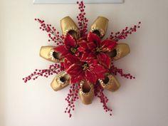 Pointe Shoe Christmas Wreath! Holiday Ballet Centerpiece! Dance decor! Ballet theme! Birthday! Dance gift! Ballerina Decor!