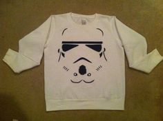 Stormtrooper Sweatshirt but I want to tie die it firsttttt!!!!