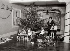 "December 26, 1923. Washington, D.C. ""Madame Prochnik, Christmas."" Gretchen Prochnik, wife of the Austrian charge d'affaires, and children."