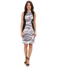 Calvin Klein Printed Lux Sheath Dress