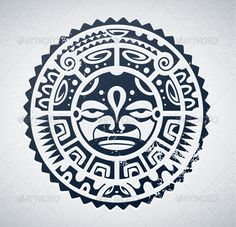 Illustration of tribal maori mask isolated on white. Tattoo Band, Hawaiianisches Tattoo, Maori Tattoos, Marquesan Tattoos, Tattoo Motive, Samoan Tattoo, Sleeve Tattoos, Tattoo Symbols, Tattoo Pics
