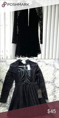 Bebe mini flared open back dress size xs Bebe size dress xs brand new with the tags attached. Great holiday dress! No low ball offers bebe Dresses Mini