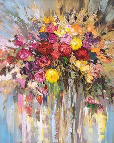 'Flowers in Bloom' (2106) Oil painting by Ewa Czarniecka | Artfinder