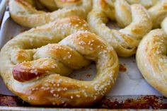 Soft and Chewy Salted and Buttered Pretzels | mynameissnickerdoodle.com