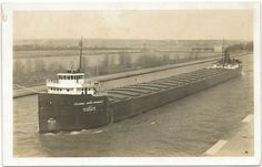 $24.....UP MI Soo Locks MI RPPC Great Lakes Steamer Freighter SS Colonel James Pickands (12/18/2011)
