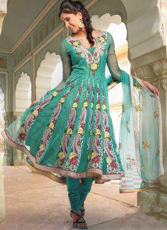 Stunning dark green Shade Salwar Suit