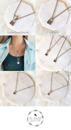 The Songbird Collection Locked Chain Necklace - 2 Styles! The Songbird Collection Delicate Gold Necklace, Layered Choker Necklace, Diamond Cross Necklaces, Gold Initial Pendant, Initial Pendant Necklace, Hipster Jewelry, Pretty Necklaces, Gold Necklaces, Necklace Designs