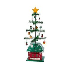 Christmas Tree Calendar with Ornaments, Multi-Colored ($62) ❤ liked on Polyvore featuring home, home decor, holiday decorations, holiday tree ornaments, holiday ornament, christmas home decor, christmas holiday decorations and christmas tree ornaments