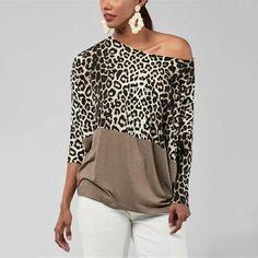 Womens Fashion - Fashion Casualsexy Off The Shoulder Matching Leopard Print Blouses T-Shirt Leopard Print Outfits, Leopard Print Top, Latest Fashion For Women, Womens Fashion, Off Shoulder Fashion, Fashion News, Fashion Trends, Fashion Outfits, Style Fashion
