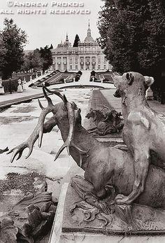 Lion with Stag, La Granja Palace Gardens - http://andrewprokos.com