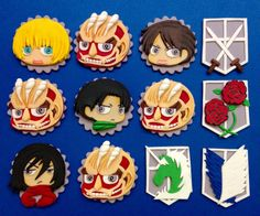 OMFG IT'S AOT EDIBLE CUPCAKE TOPPERS -- too kawaii to eat #chibititan #attackontitan
