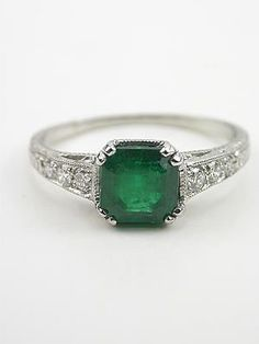 - Edwardian Inspired Vintage Emerald Engagement Ring, RG-3216 on imgfave. This is just beautiful.