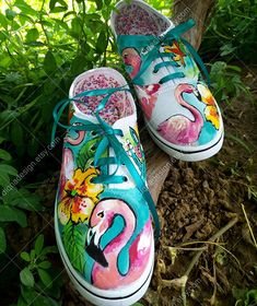 Source by Windedcookie shoes Painted Sneakers, Painted Canvas Shoes, Custom Painted Shoes, Hand Painted Shoes, Painted Clothes, Custom Shoes, Disney Painted Shoes, Painted Toms, Painted Jeans