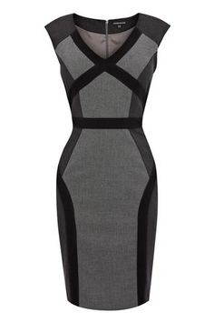 Black Multi Panel Dress