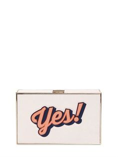Imperial Yes & No Leather Clutch
