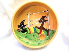 Agility Themed Dog Bowls and Items by PoochPottery1 on Etsy, $25.00