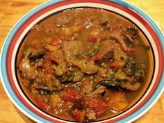 Moraccan Butternut Beef Stew - Hearty, exotic-tasting beef stew with creamy butternut, Swiss chard, and ras el hanout!